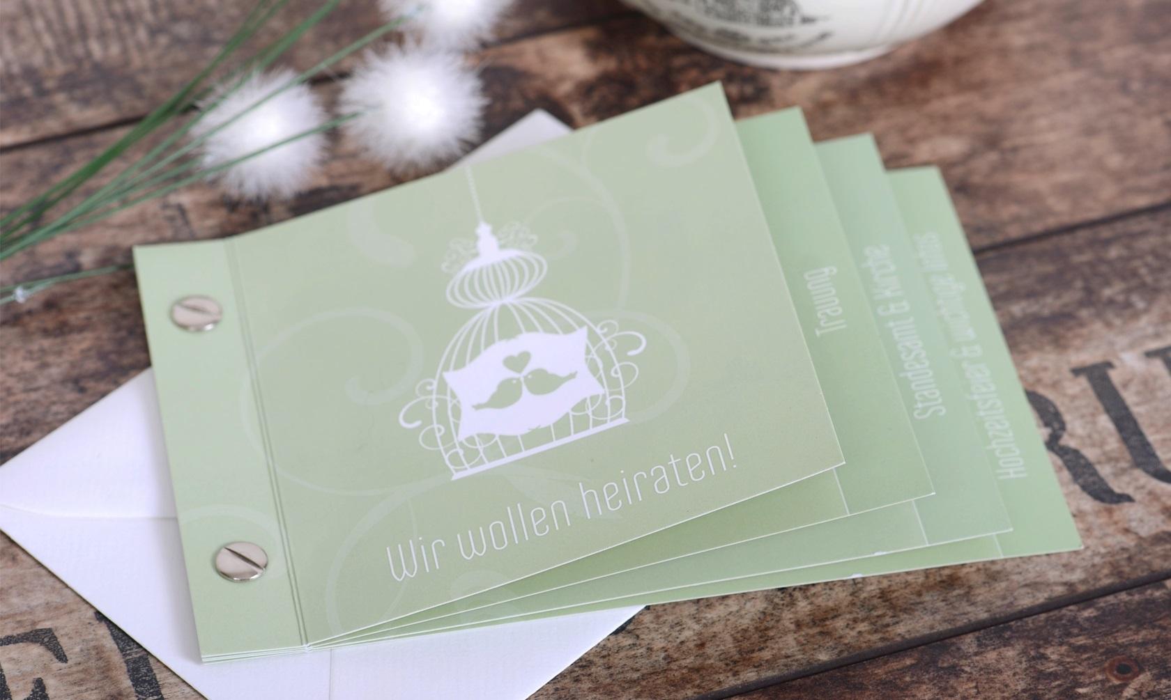 hochzeitskarten, geburtskarten und mehr - karten-mal-anders, Einladungen